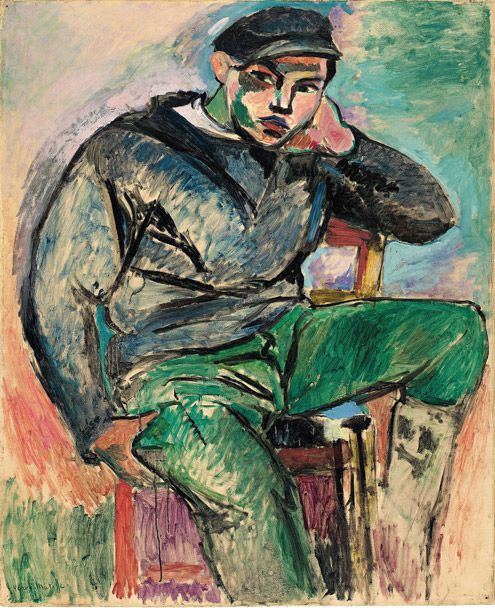 Henri Matisse (French, 1869–1954)  Young Sailor I, 1906  Oil on canvas; 39 1/4 x 32 in. (99.7 x 81.3 cm)  Collection of Sheldon H. Solow  © 2012 Succession H. Matisse / Artists Rights Society (ARS), New York