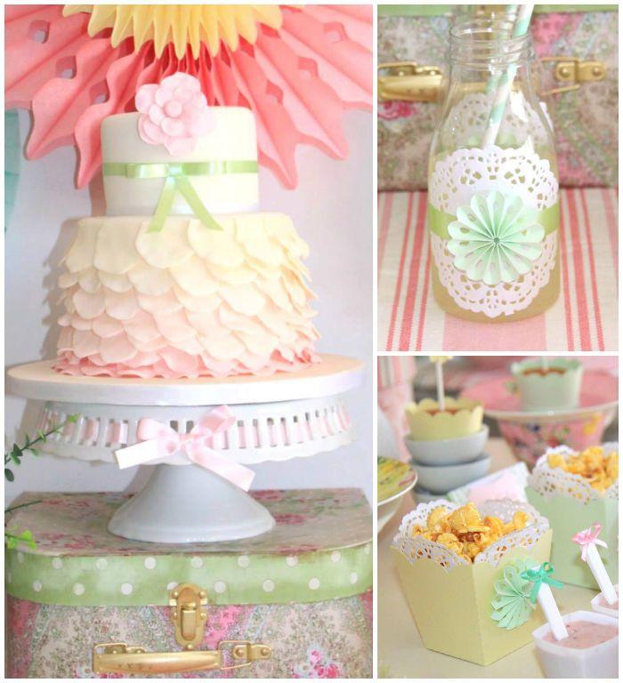 Pastel Tea Party With Such Cute Ideas Via Kara's Party