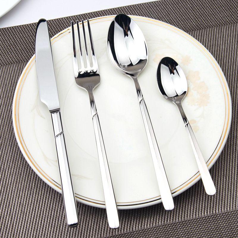 Dinnerware Set Luxury Cutlery Steel Set Quality 24 Pcs Tableware Knives Forks Dining Dinner Sets Western & Dinnerware Set Luxury Cutlery Steel Set Quality 24 Pcs Tableware ...