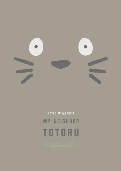 #graphic #design #work #project #movie #films #studio #ghibli #hayao #miyazaki #neighbor #totoro #poster #saramaese #maese