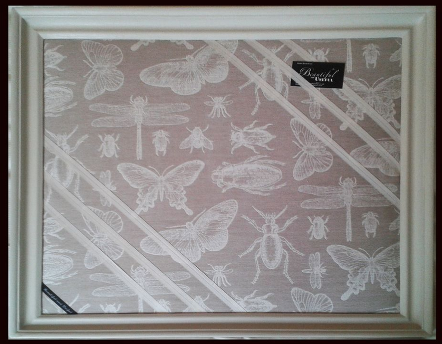 A Stunning Bespoke Butterflies And Bugs Design Framed Memo Boardpin