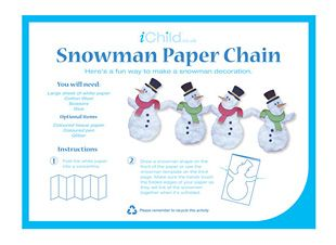 Using our fantastic snowman paper chain template, your child can ...