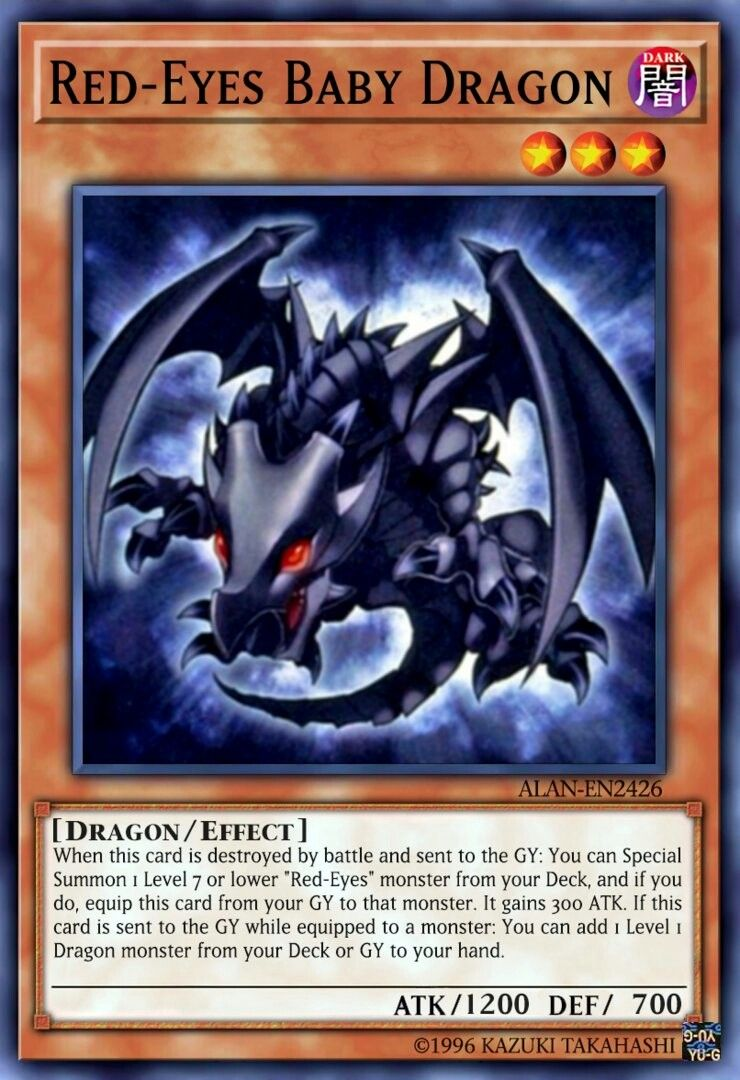 Red Eyes Baby Dragon Baby Dragon Yugioh Dragons Yugioh Cards