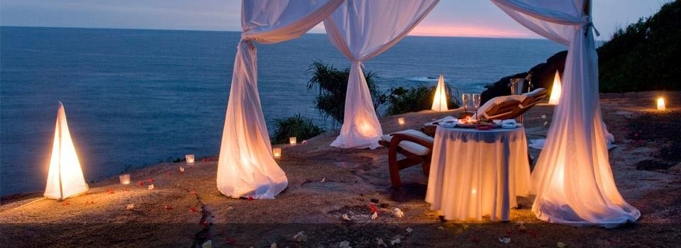 Allure: Because what is not tempting, alluring, or fascinating about a candlelit tent on a beach? (Other than the potential fire hazard?)