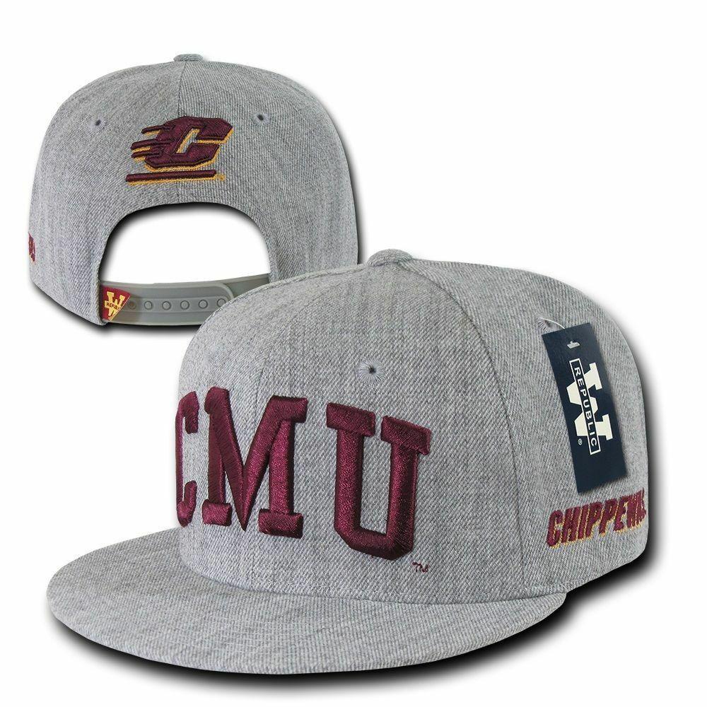 Central Michigan University CMU Chippewas NCAA Flat Bill Snapback Baseball Hat