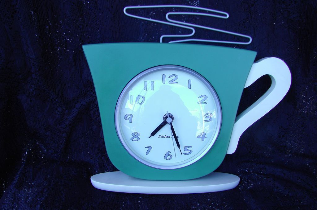 1950 S Retro Kitchen King Coffee Cup Wall Clock