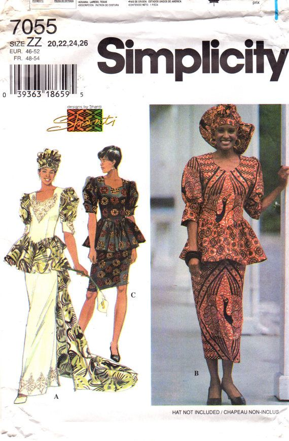Simplicity 60 Misses African Wedding Sewing Pattern Peplum Top Inspiration African Dress Patterns For Sewing