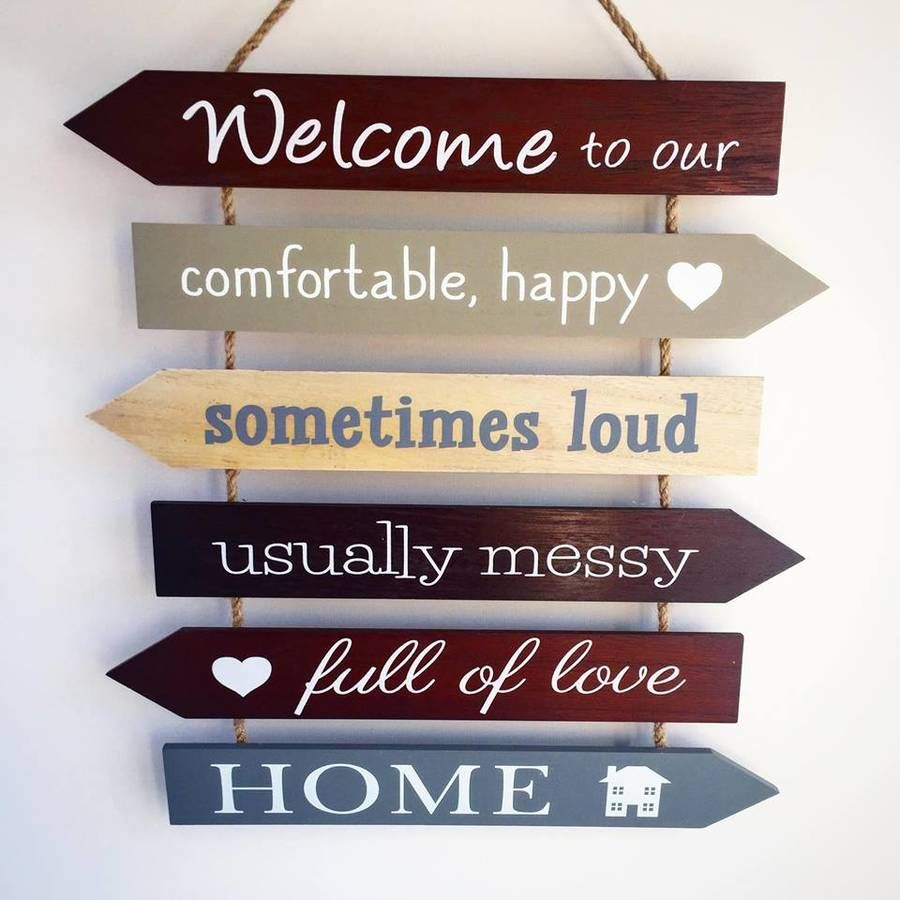 Welcome To Our Home Sign Welcome Home Signs Diy Wood Signs Wooden Family Signs