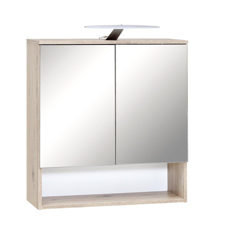 Spiegelschrank 2trg. mit LED Beleuchtung, Schalter
