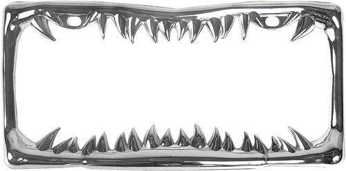 Custom Accessories 92717 Chrome Jaws Metal License Plate Frame, http://www.amazon.com/dp/B007LICJ0S/ref=cm_sw_r_pi_awdm_WPndvb0XCJVDP