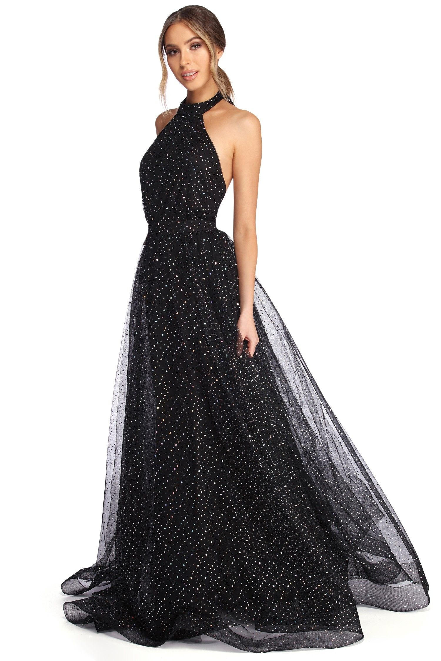 Jeanette Starry Night Ball Gown  Ball gowns, Black ball gown, Dresses