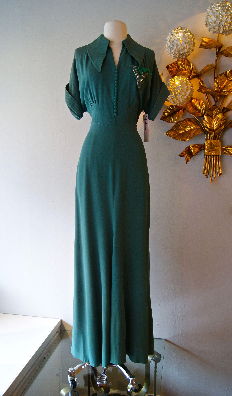 1940s Dress Vintage Dress 40s Evening Gown Vintage Evening Gowns Vintage Dress 40s 1940s Fashion [ 2896 x 1702 Pixel ]