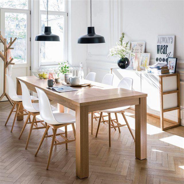 Salle à manger – Salle à manger esprit scandinave en blanc et bois ...