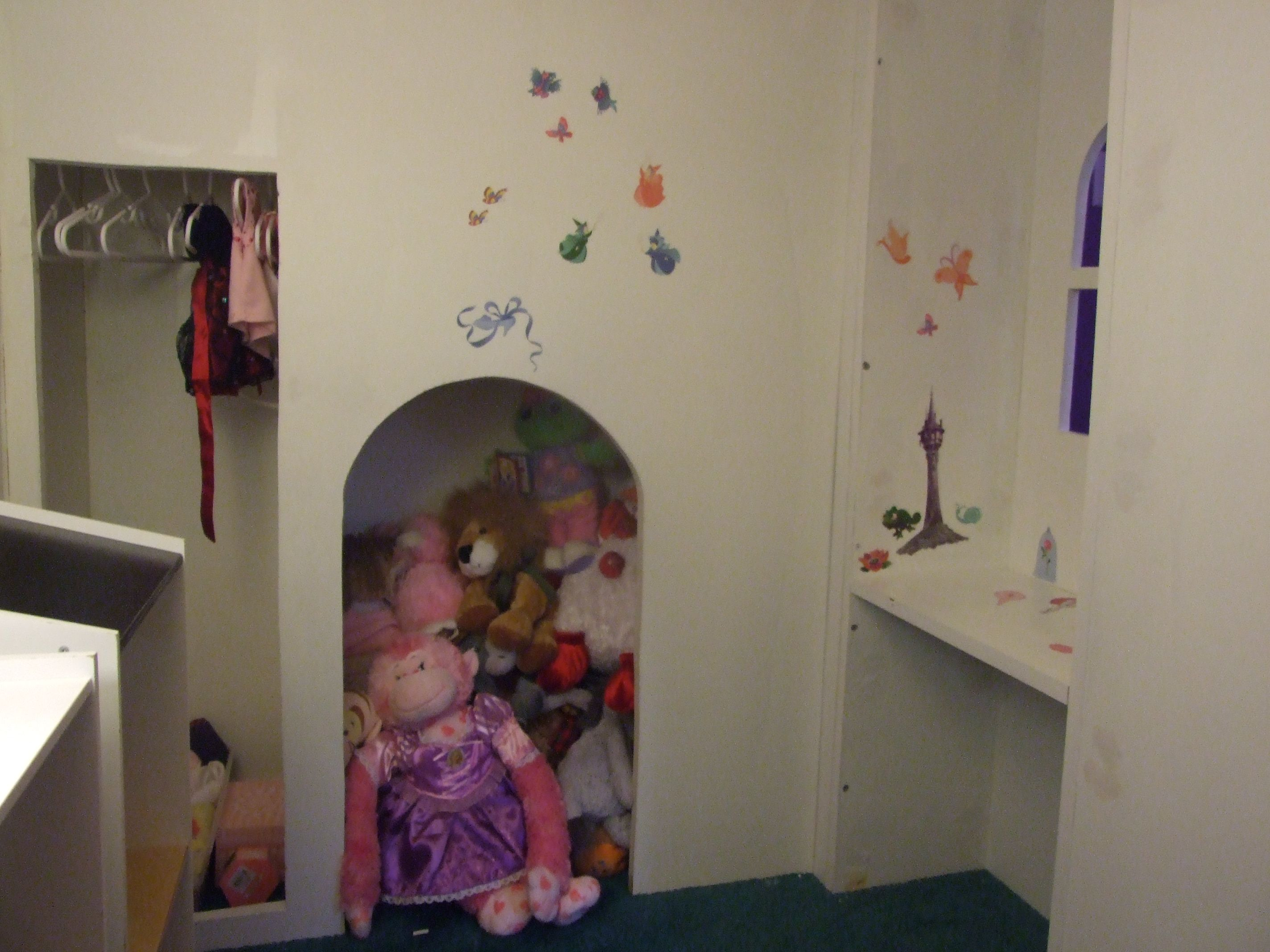 Castle Loft Bed with Stairs and Slide Kids bunk beds