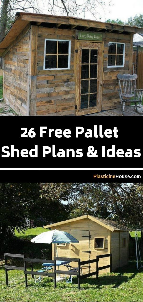 26 Free Pallet Shed, Barn, Cabin and Building Plans & Ideas #palletideas
