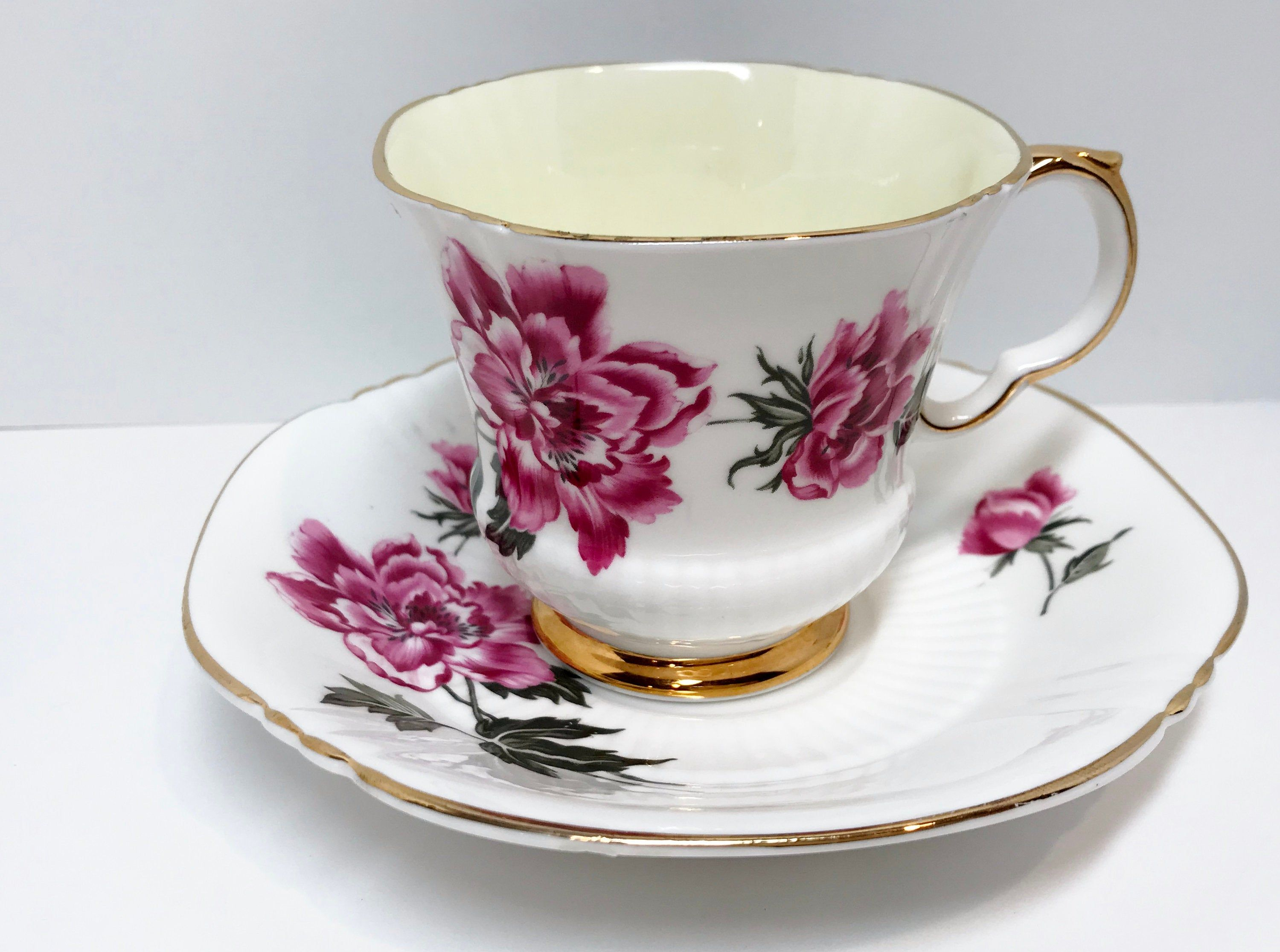 Adderley Tea Cup and Saucer, Antique Tea Cups Vintage, Floral Tea Cups, English Bone China Cups, Friendship Cup, English Tea Cups #teacups