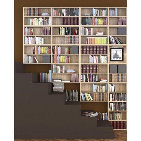 Bibliothèque SPACEO Home, décor chêne | Meuble rangement, Bibliotheque, Decoration