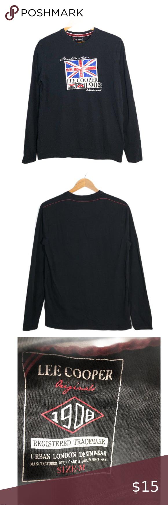 Lee Cooper1908 Britain Black Longsleeve Shirt M Black Long Sleeve Shirt Long Sleeve Shirts Long Sleeve [ 1740 x 580 Pixel ]