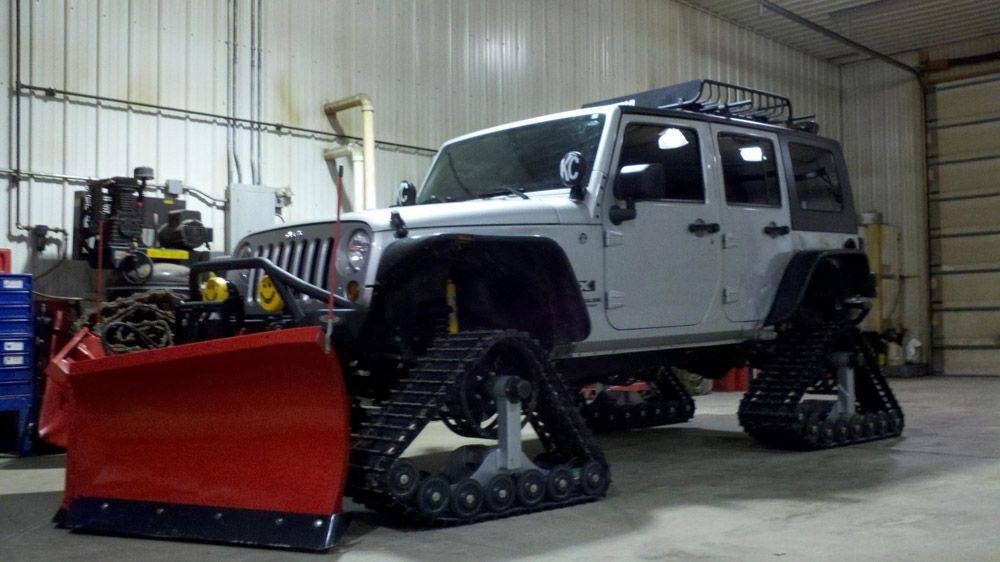 Jeep Rubicon Wrangler Laredo Limited Sport Snow Tracks Dominator Track Truck Track Kit Track System 13 American Track Tr All Terrain Vehicles Jeep Rubicon Jeep