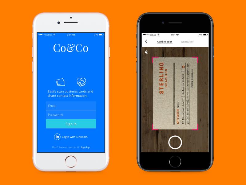 Co Co Business Card Reader App Card Reader Business Cards App