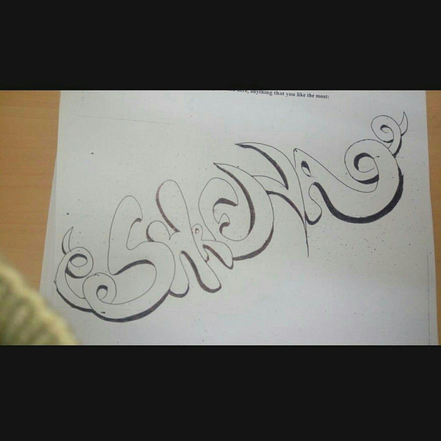 Calligraphy pencil art shreya by shreya kalra
