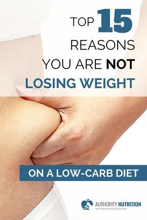 Top 15 Reasons You Are Not Losing Weight on a Low-Carb Diet People often stop losing before they reach their desired weight. If you're on a low-carb diet but not losing weight, then here are 15 things you can try: http://authoritynutrition.com/15-reasons-not-losing-weight-on-a-low-carb-diet/