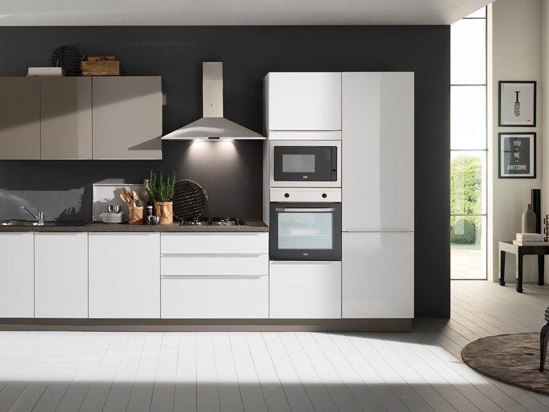 Cucina bianca moderna lineare Mia 360 five Mobilturi cucine ...