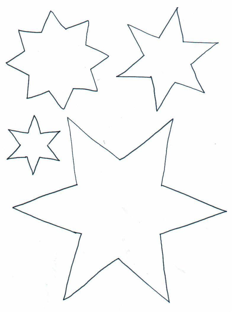 Sterne zum Ausmalen   Weihnachten basteln vorlagen, Sterne ...