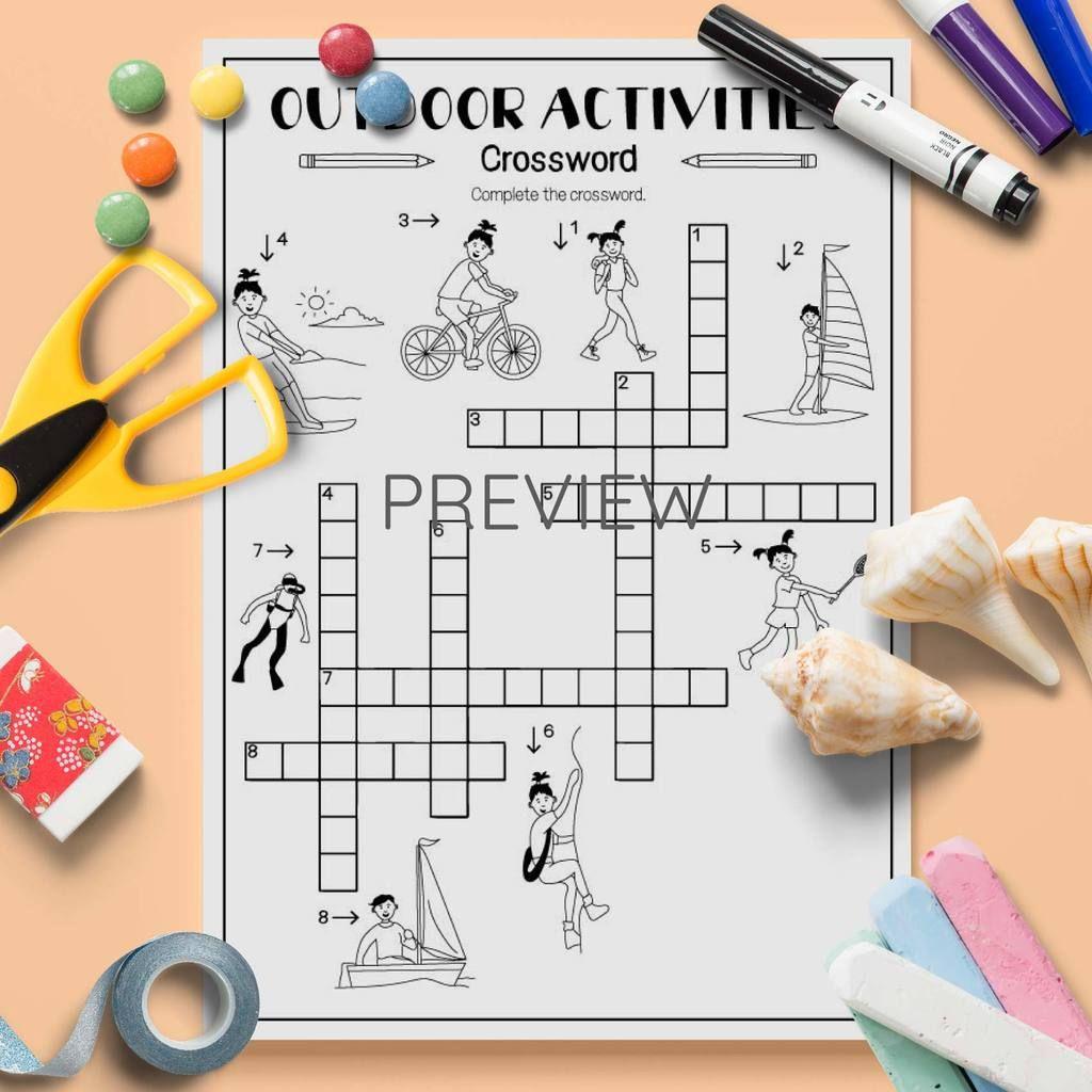 Outdoor Activities Crossword In With Images