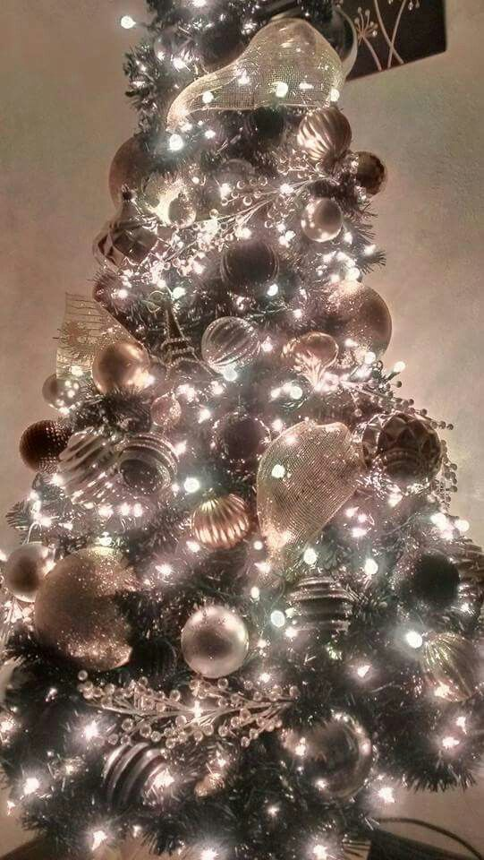 My Christmas Tree 2015 Black Tree Gold Silver White And