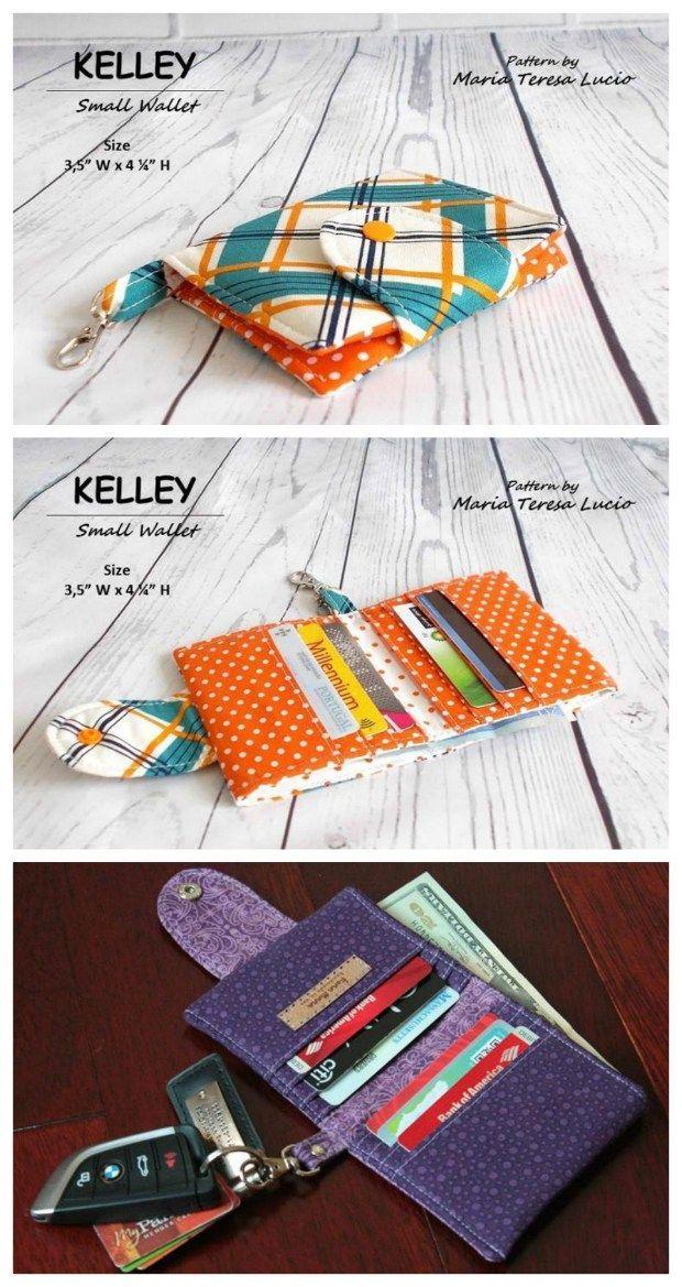Patron de couture Kelley Small Card Wallet – parfait pour les femmes et les hommes – Coudre des sacs modernes  – ÇANTA& CÜZDAN VE AYAKKABI DİKİM TEKNİKLERİ