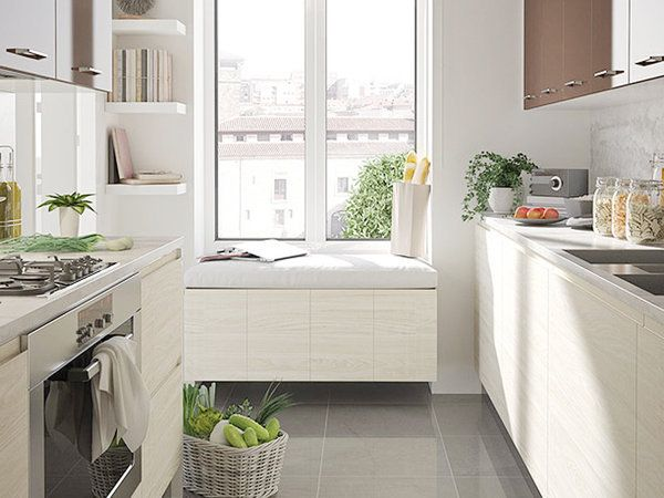 Cocinas peque as c mo aprovechar el espacio cocina - Aprovechar espacio cocina ...