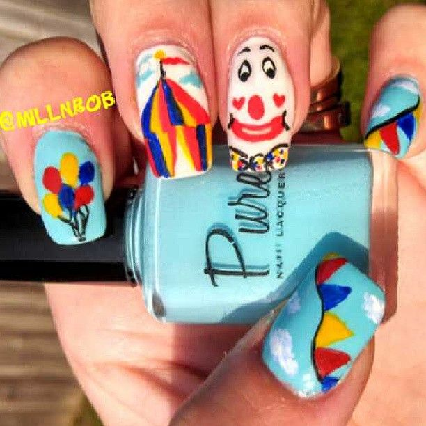 Circus Nails Project Pinterest Circus Nails Nail Nail And