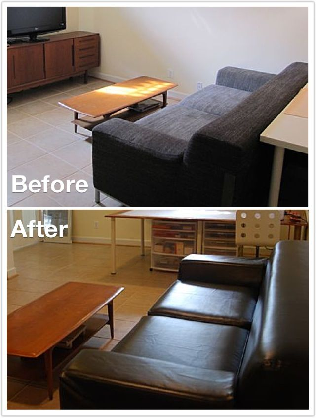 Leather Slipcover By Comfort Works
