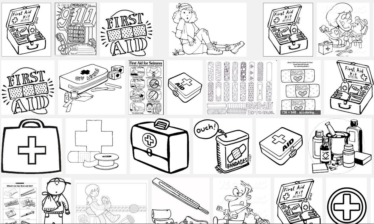 Google search for first aid coloring pages   Kid\'s First Aid   Pinterest