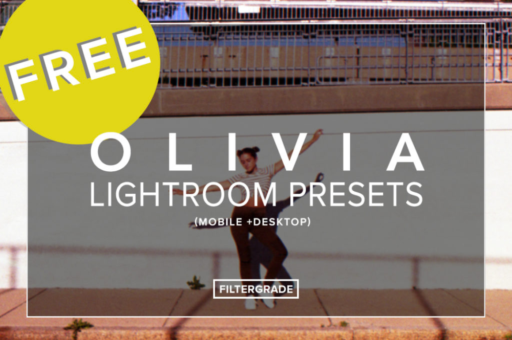 FREE 'Olivia' Lightroom Presets (Mobile + Desktop Download