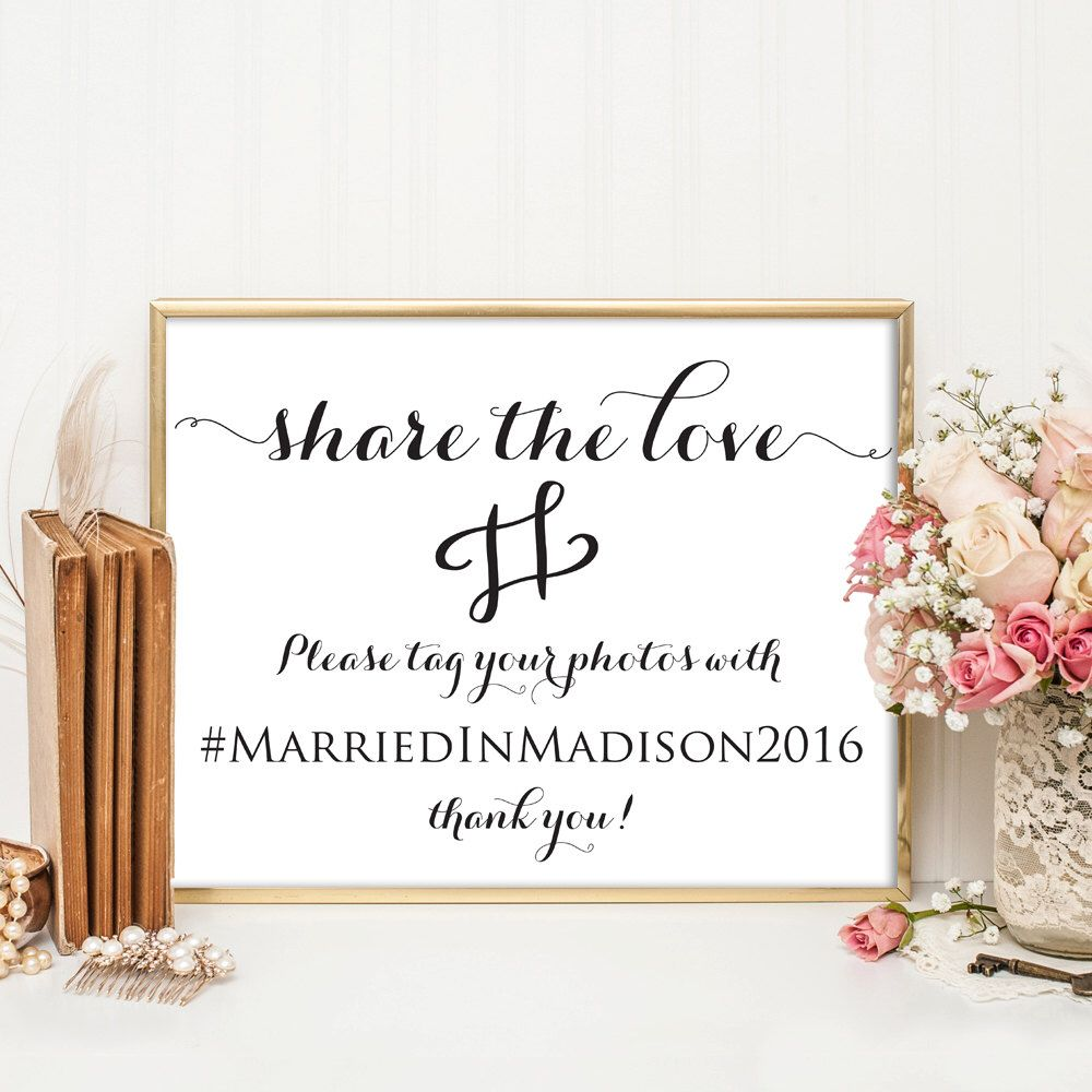 Wedding Hairstyle Hashtags: Wedding Hashtag Sign, Wedding Hashtag, Printable Hashtag