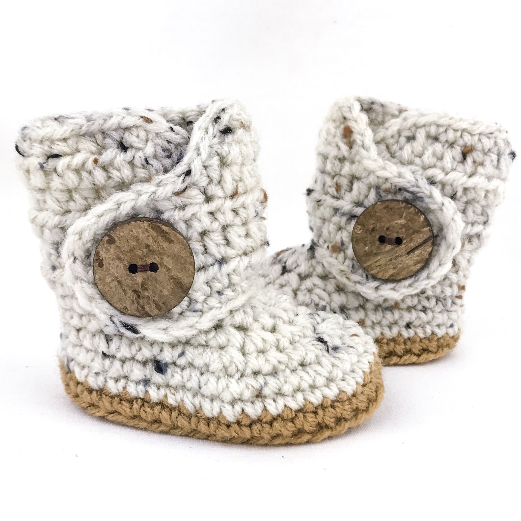Oats and Honey Gender neutral baby shoes tweed baby boots soft