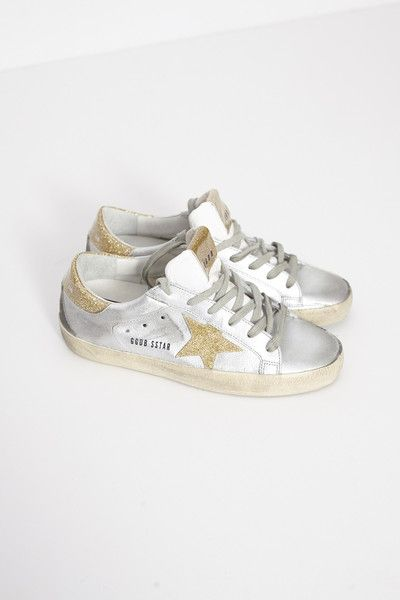 c5c2c00f4a7d3 Silver and Gold Superstar Sneaker by Golden Goose