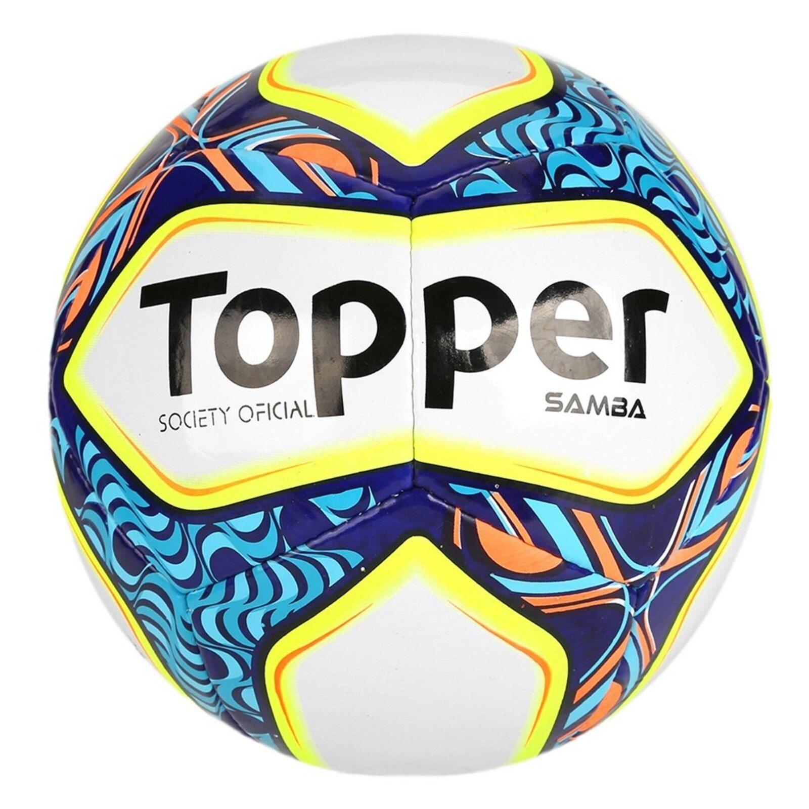Bola De Futebol Society Topper Samba Futebol Society Samba E Topper