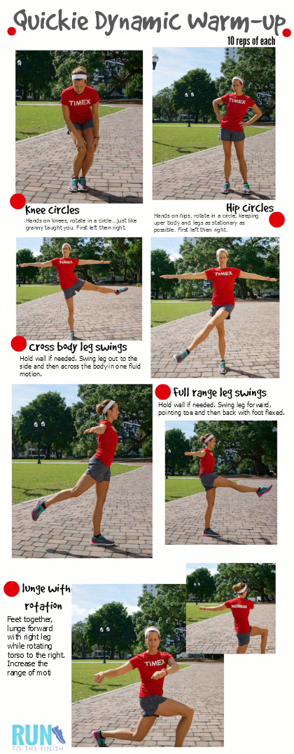 Dynamic Warm Up For Runners to prevent injury - super fast and especially great before cold runs #Fi...