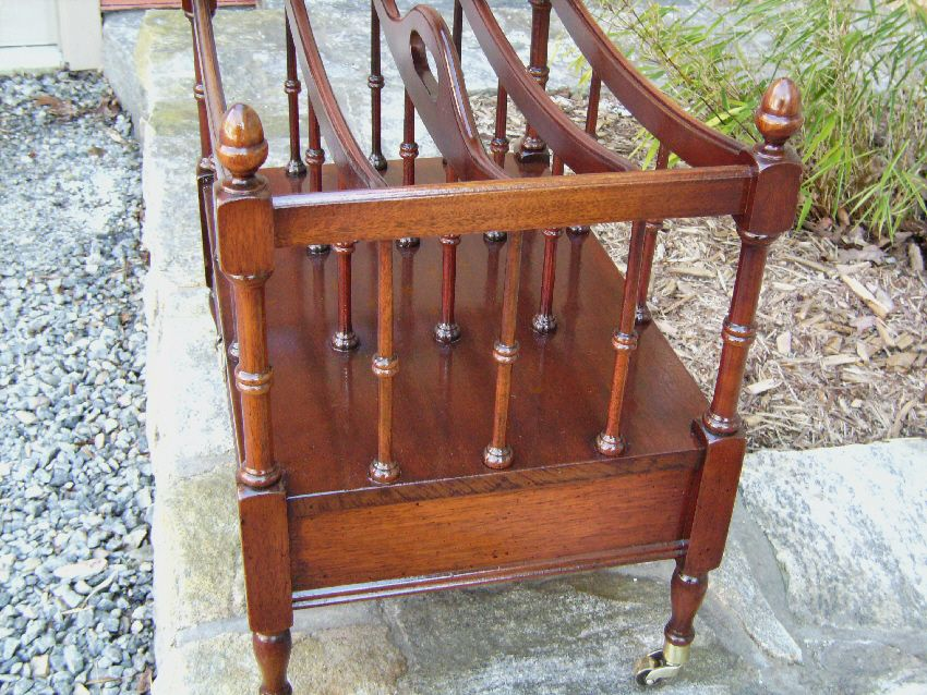 Popular Brand Antique Georgian Style Mahogany Canterbury Magazine Rack Other Antique Furniture