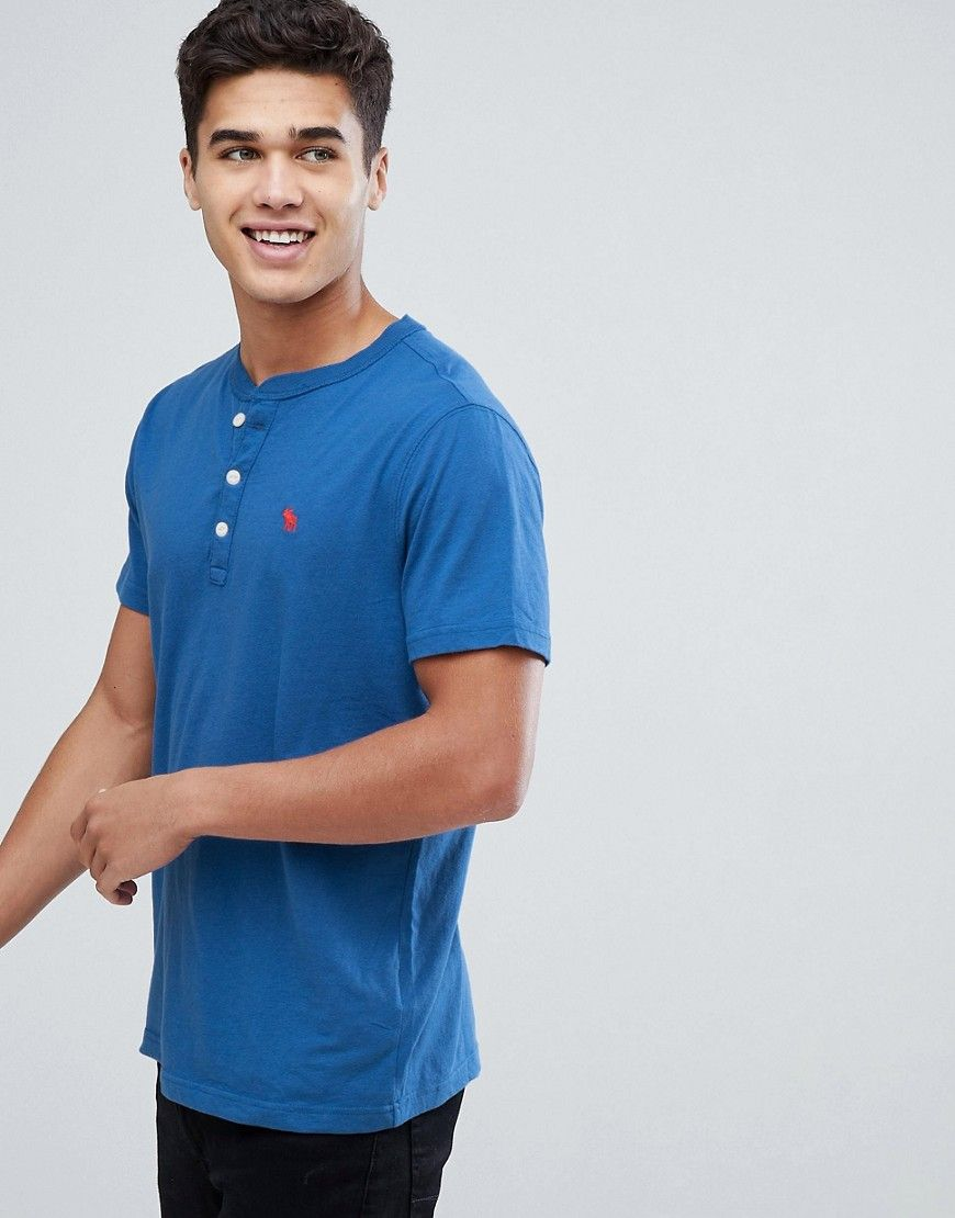 613f593a Abercrombie & Fitch Slim Fit Essential Henley T-Shirt with Pop Icon ...