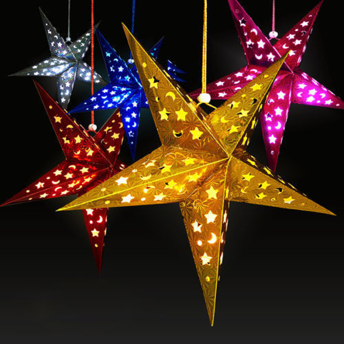 2017Xmas String Hanging Stars Christmas Party Decoration Tree
