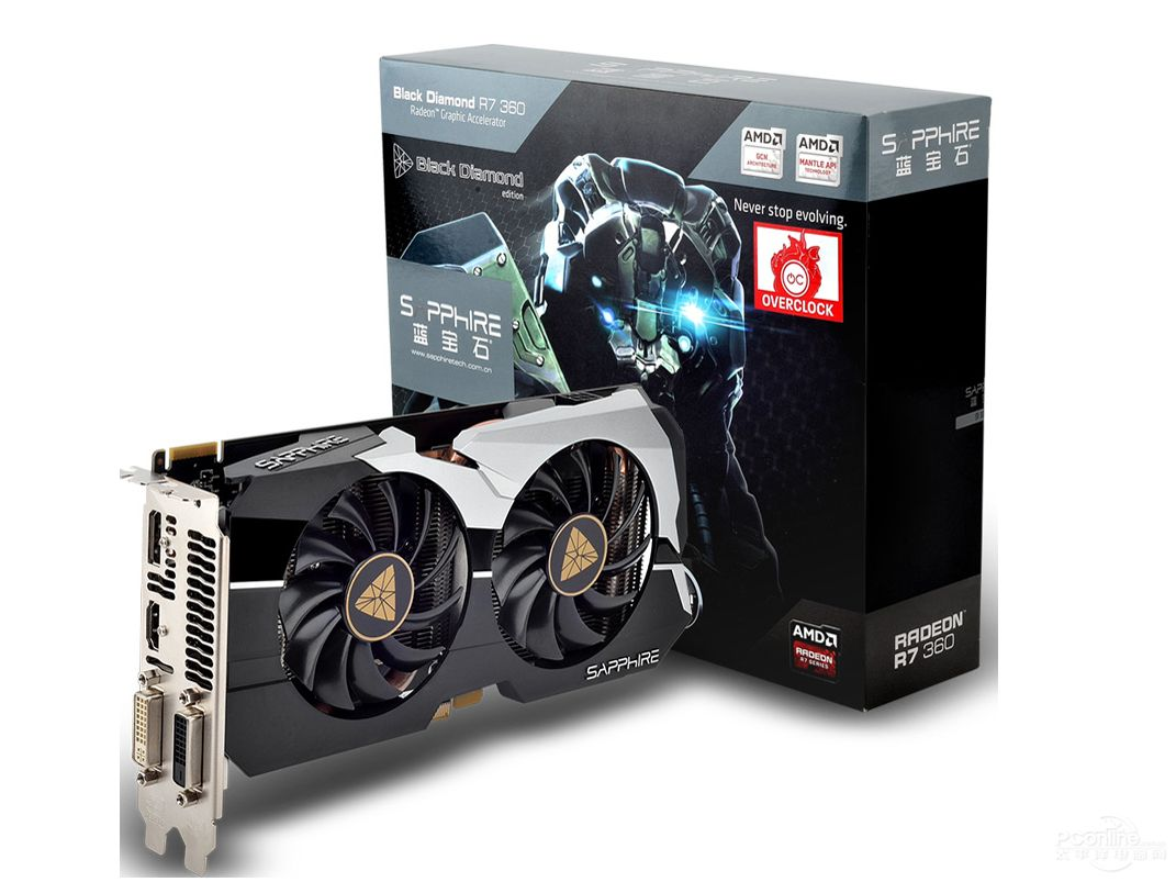 Sapphire R7 360 2g D5 Gaming Accessories Graphic Card Electronic Products
