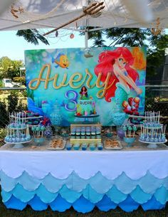 Little Mermaid Dessert Table Mermaid Birthday Party Decorations Mermaid Birthday Party Mermaid Party Decorations