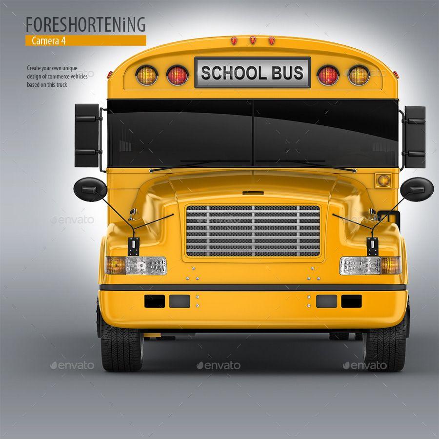 School Bus MockUp. 3d Schoolbus School bus, Bus, School