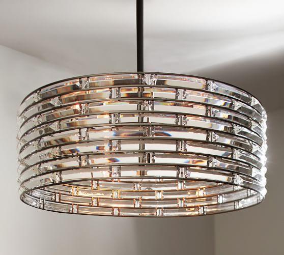 Regent Curved Crystal Chandelier   Pottery Barn   Lighting ...