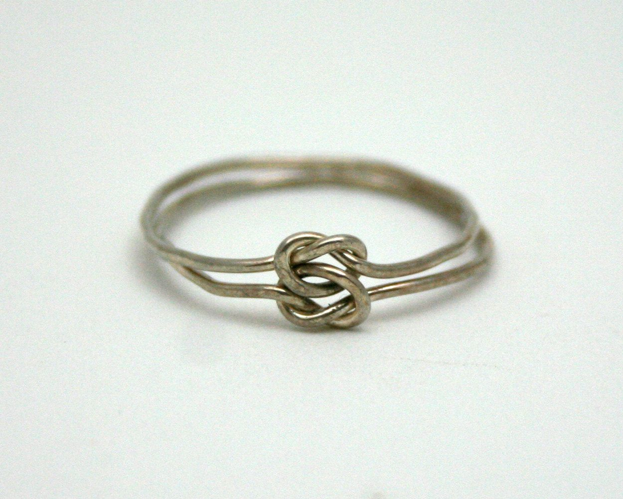 Vintage Silver Wire Knot Ring, love knot, promise, ring size 7 ...