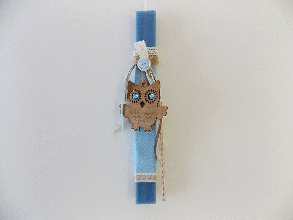 Easter candle owl greek easter candle godchildren gift kids owl easter candle greek easter candle godchildren gift kids candle wooden owl negle